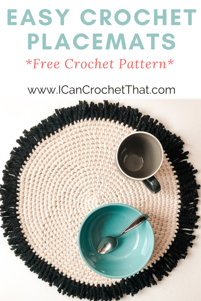 Free Crochet Round Placemats Pattern for table