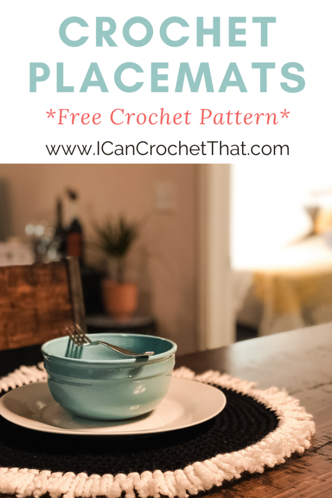Free Crochet Round Placemats Pattern for beginners