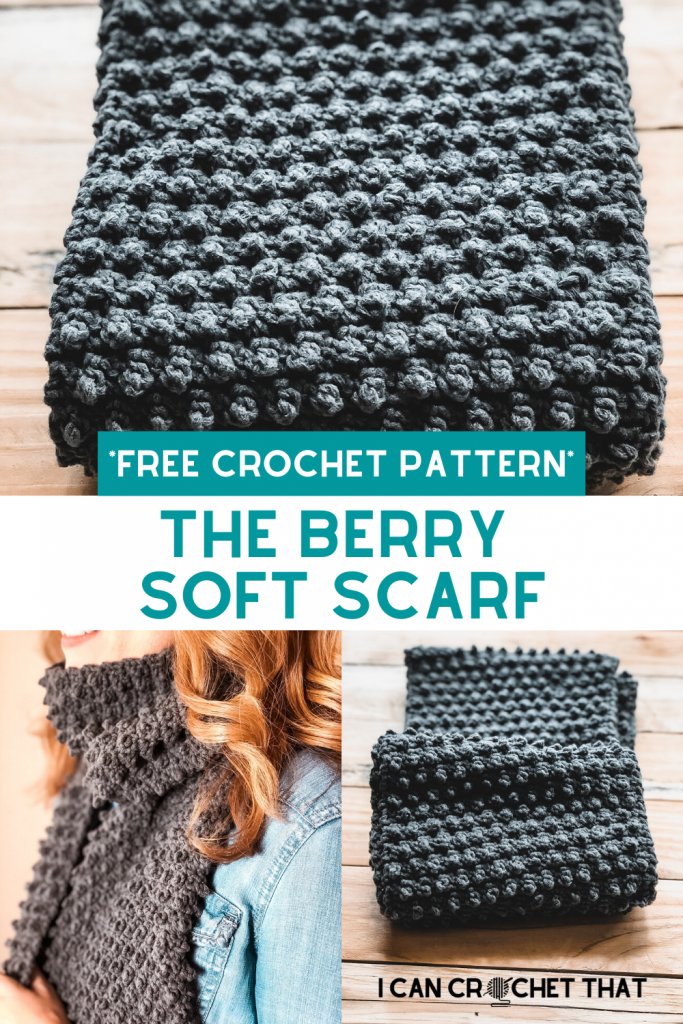 The Berry Soft Crochet Scarf Pattern