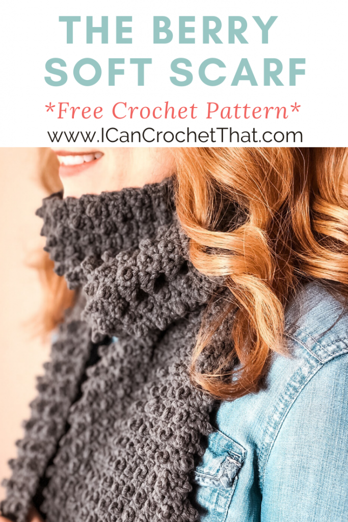 I Can Crochet That Berry Soft Scarf Pattern