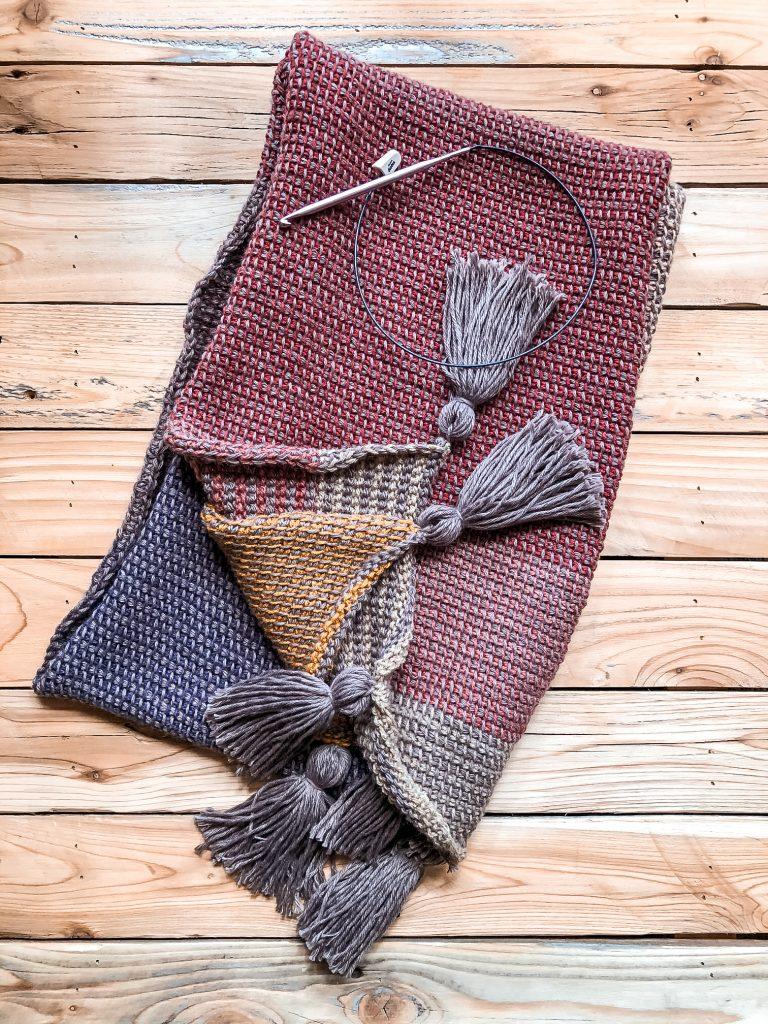 Crochet Scarf Using Tunisian Crochet Stitches
