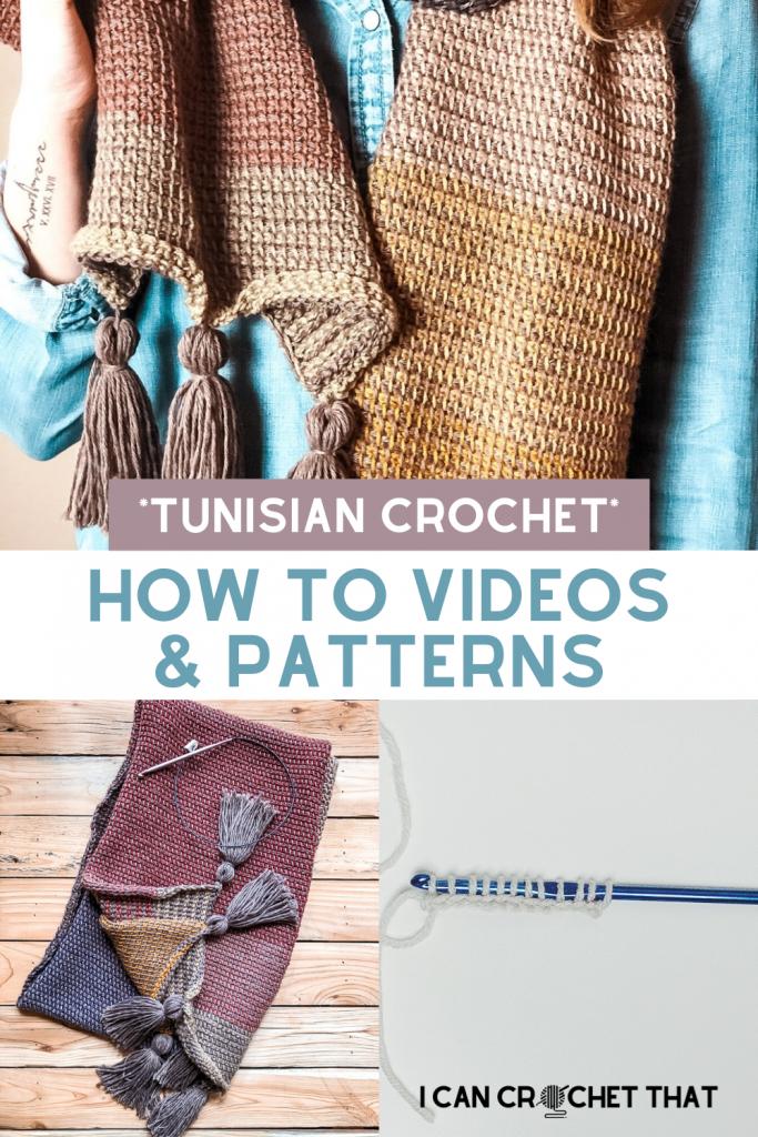 How to videos Tunisian crochet