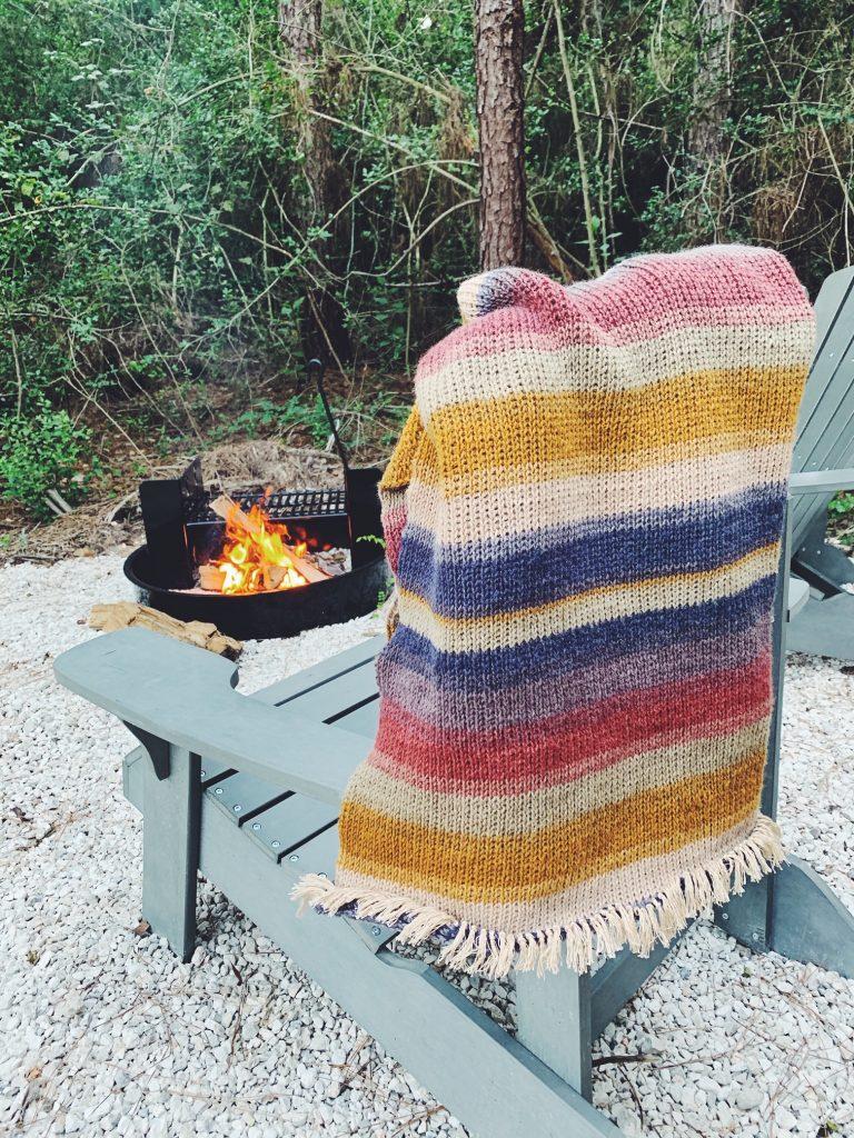 Crochet Camping Blanket