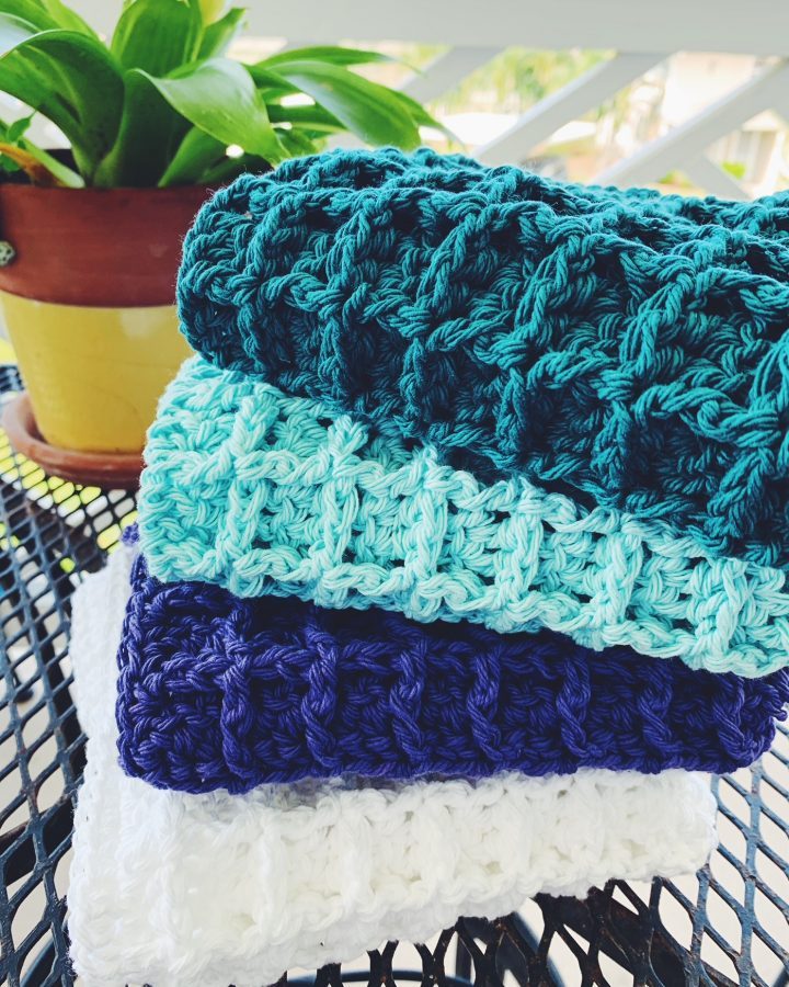 all-purpose crochet waffle stitch dishcloth pattern