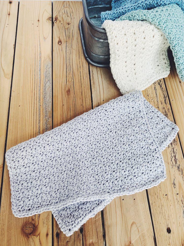 free crochet washcloth pattern using seed stitch