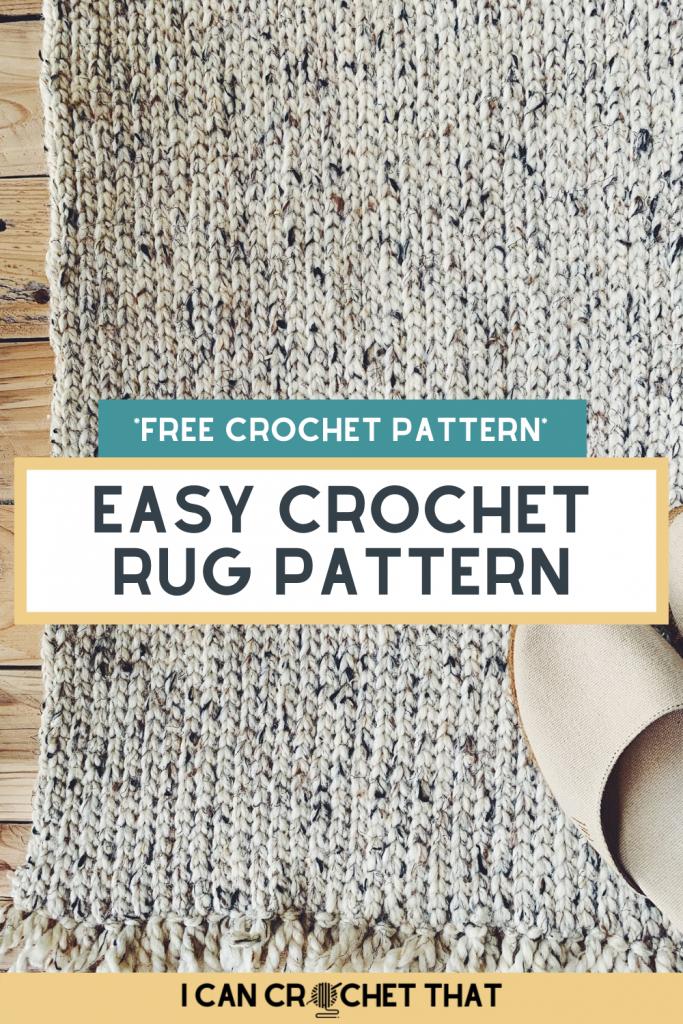 easy crochet rug pattern