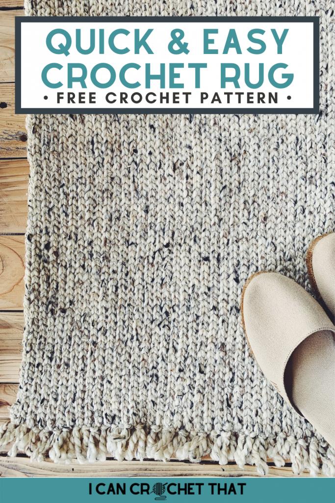 free rectangle crochet rug pattern