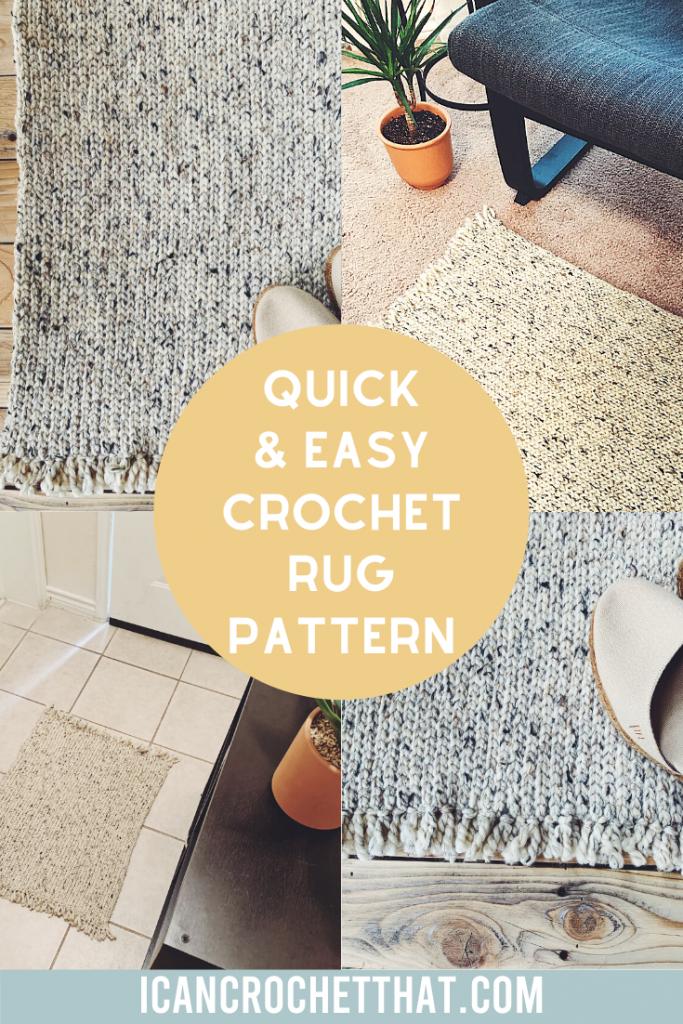 easy free crochet rug pattern