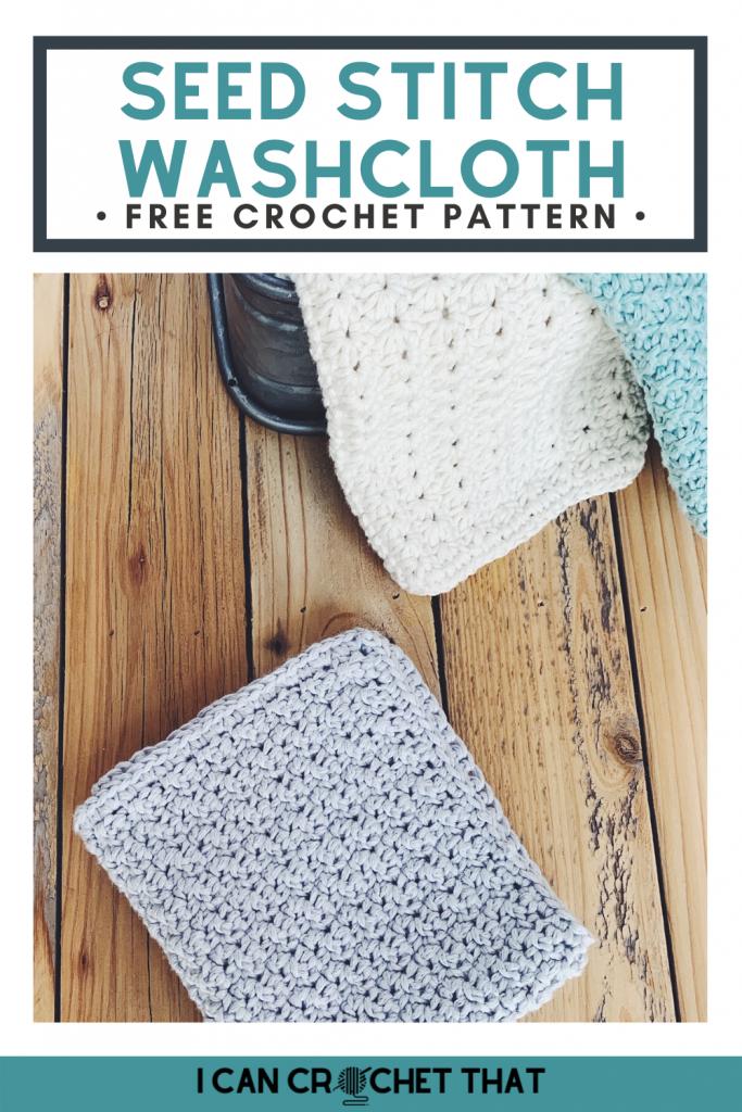 seed stitch washcloth crochet