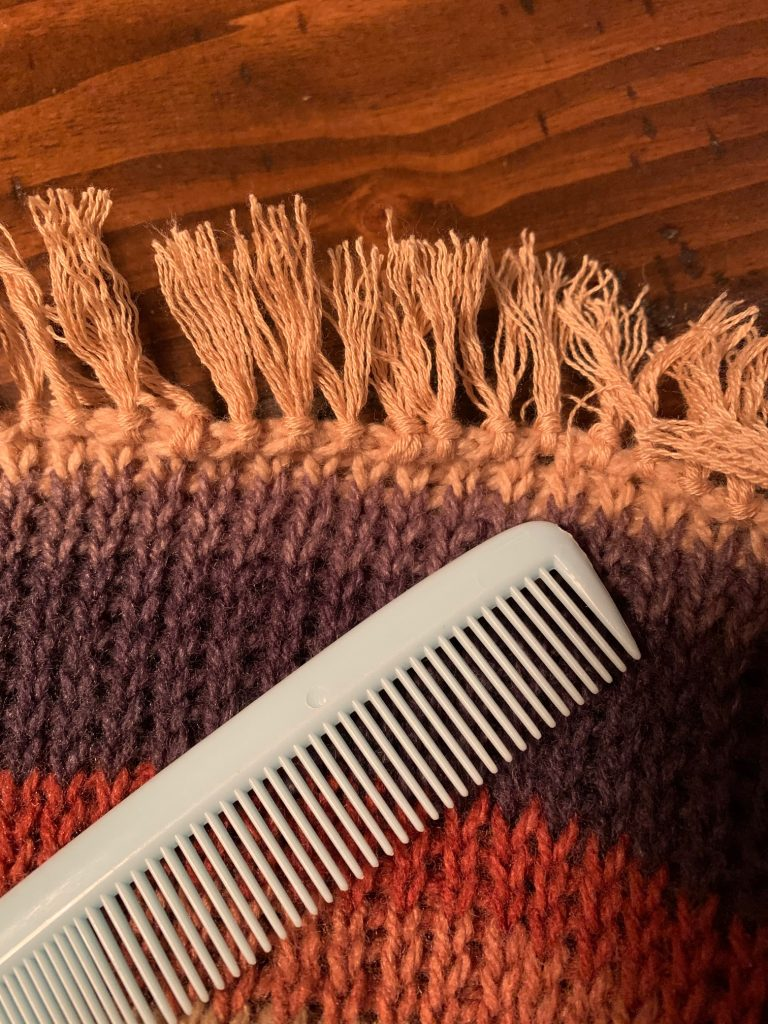 How to comb through fringe