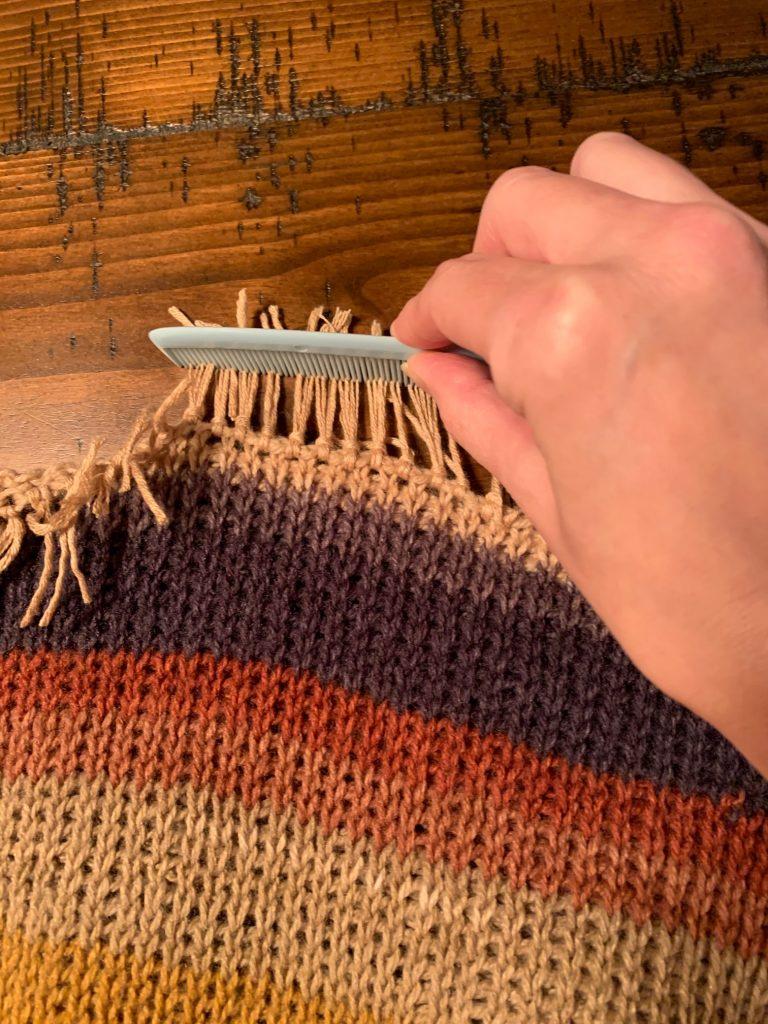 Combing through fringe