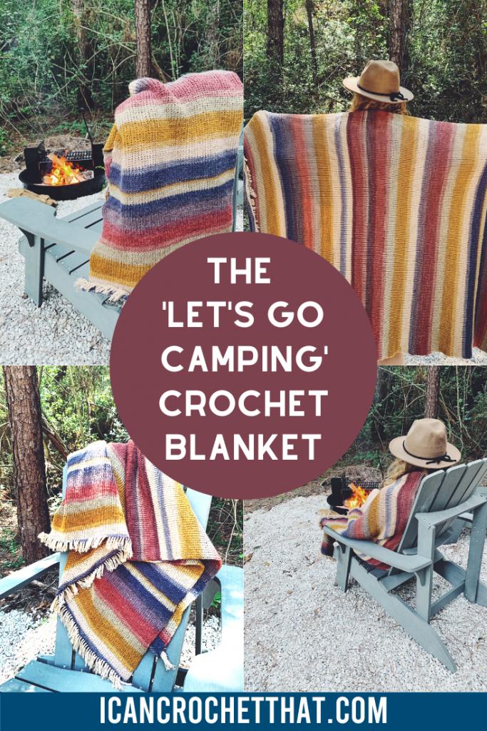 Let's Go Camping Crochet Blanket