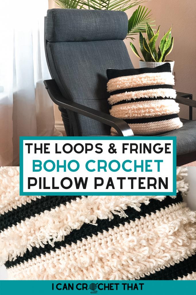 free boho crochet pillow pattern