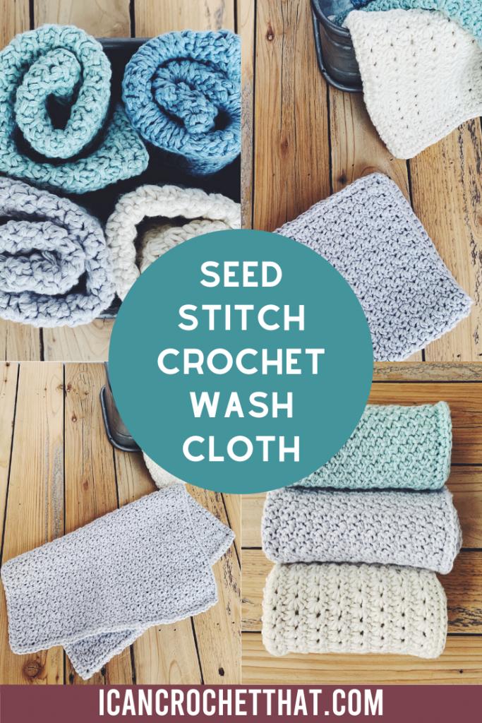 seed stitch crochet washcloth pattern