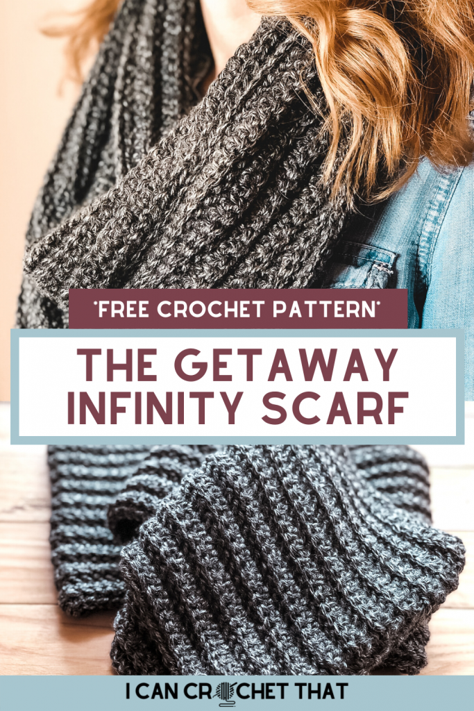 the getaway crochet infinity scarf pattern
