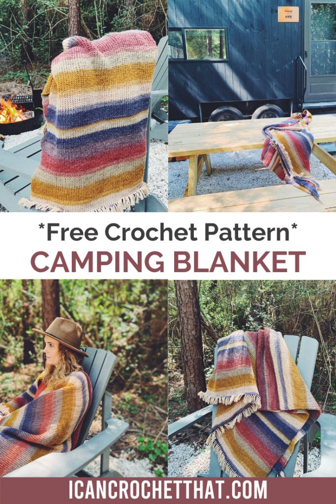 Free crochet pattern camping blanket