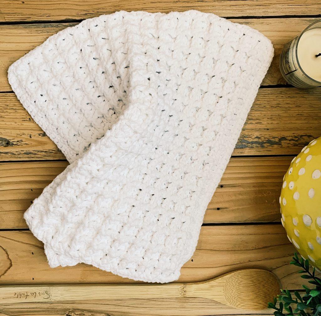 waffle stitch dishcloths