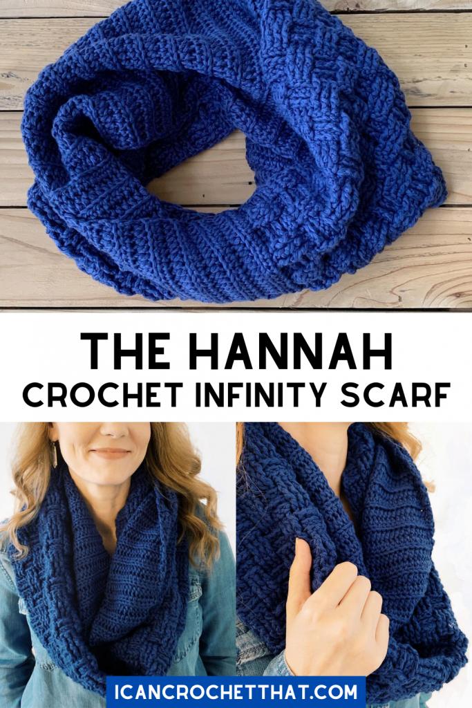 basketweave crochet infinity scarf