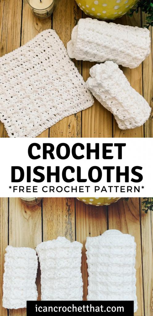 free waffle stitch dishcloth pattern