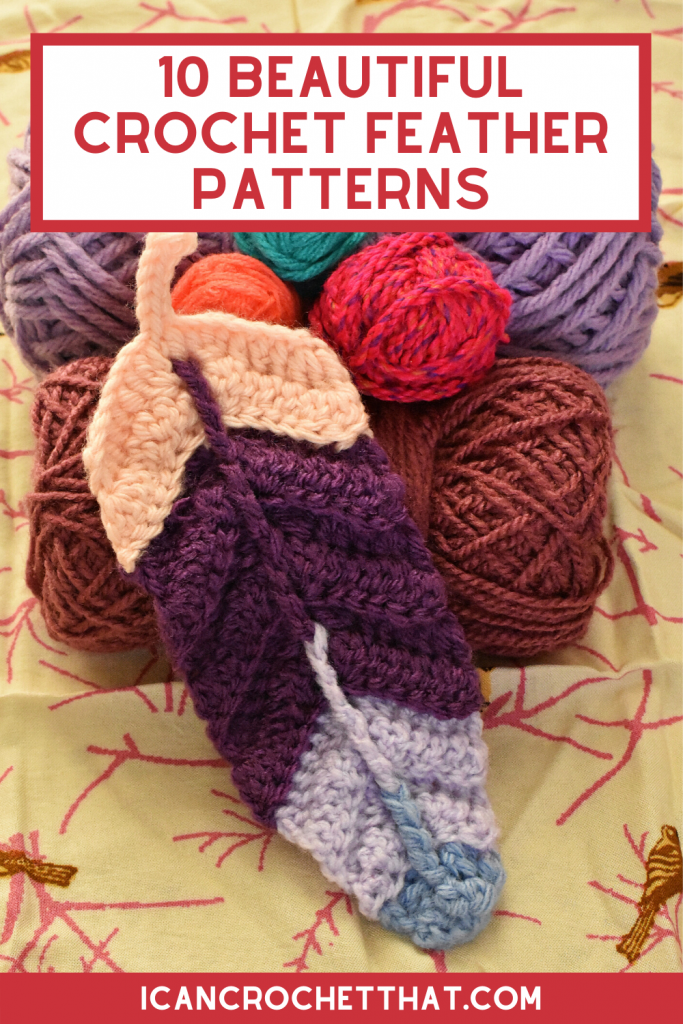 free crochet feather patterns