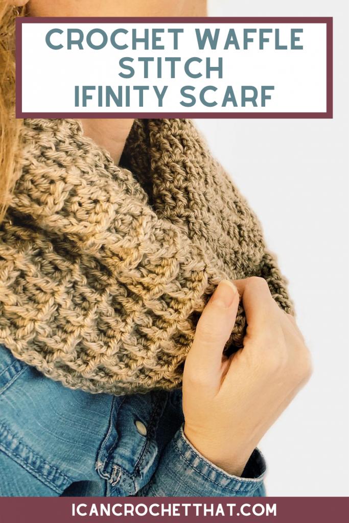 waffle stitch crochet infinity scarf