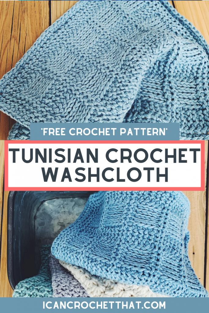 tunisian crochet washcloth