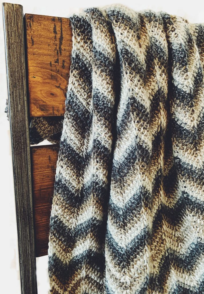 tunisian crochet chevron blanket