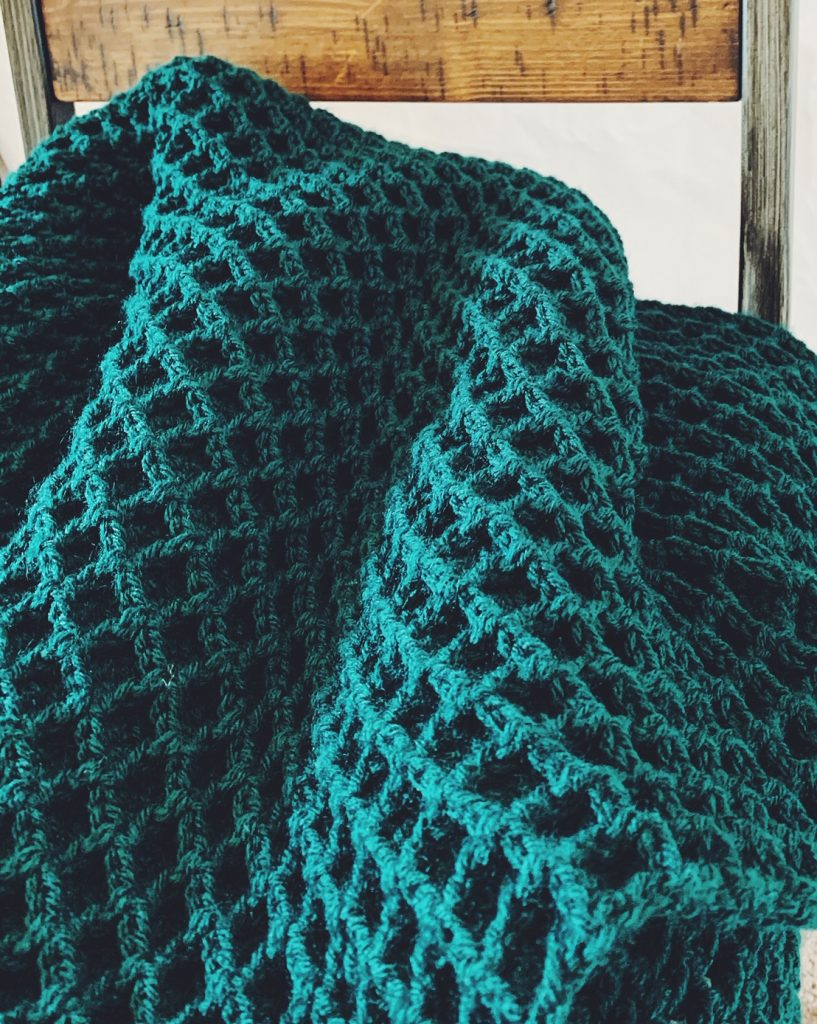 crochet waffle stitch blanket pattern