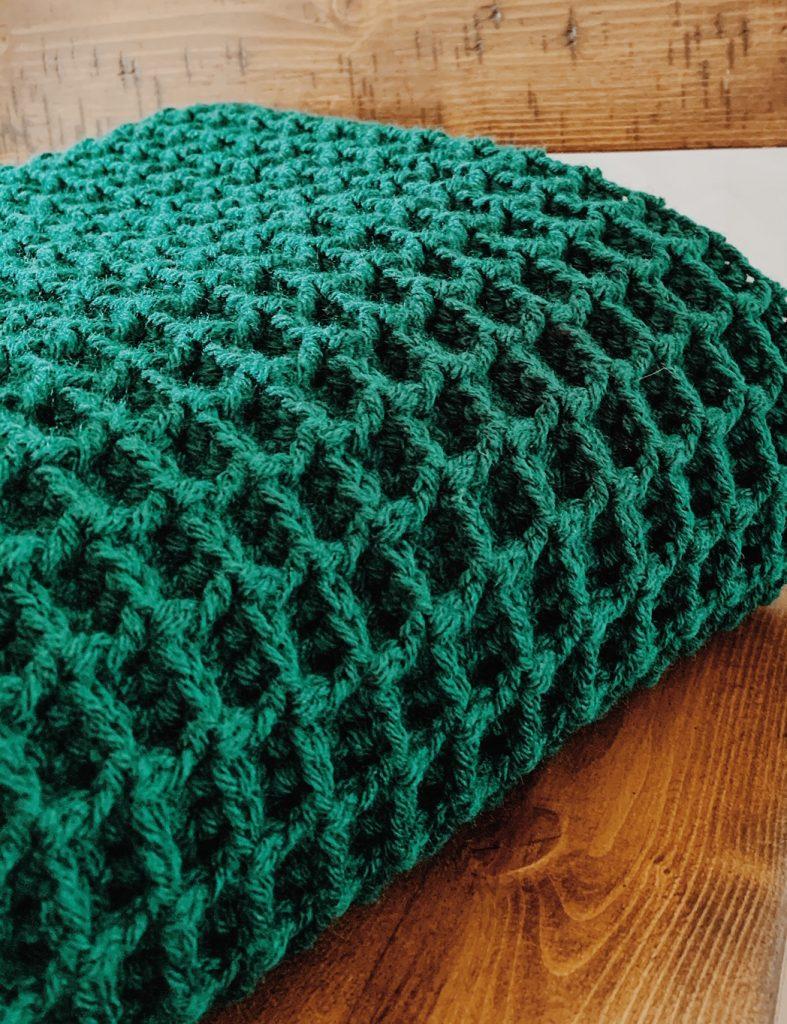 evergreen crochet blanket