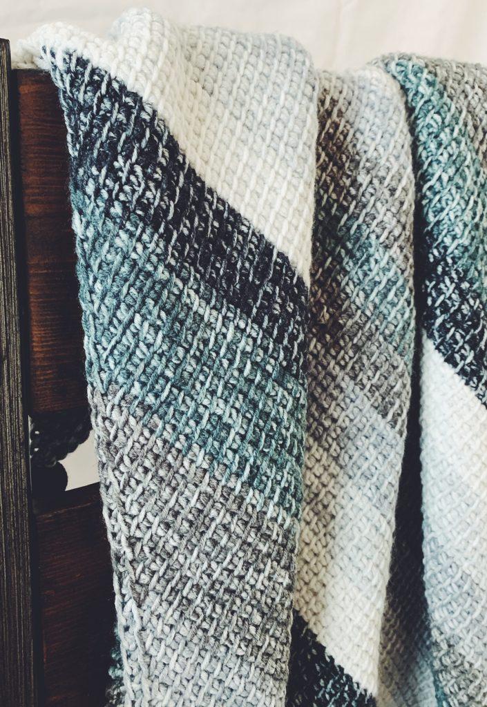 corner to corner tunisian crochet blanket