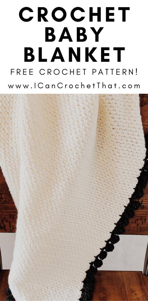 linen stitch baby blanket crochet