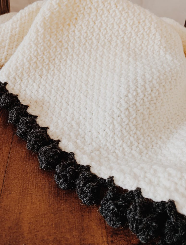 linen stitch crochet blanket