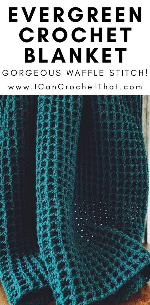 free evergreen crochet blanket pattern