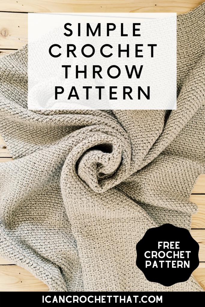 crochet linen stitch blanket