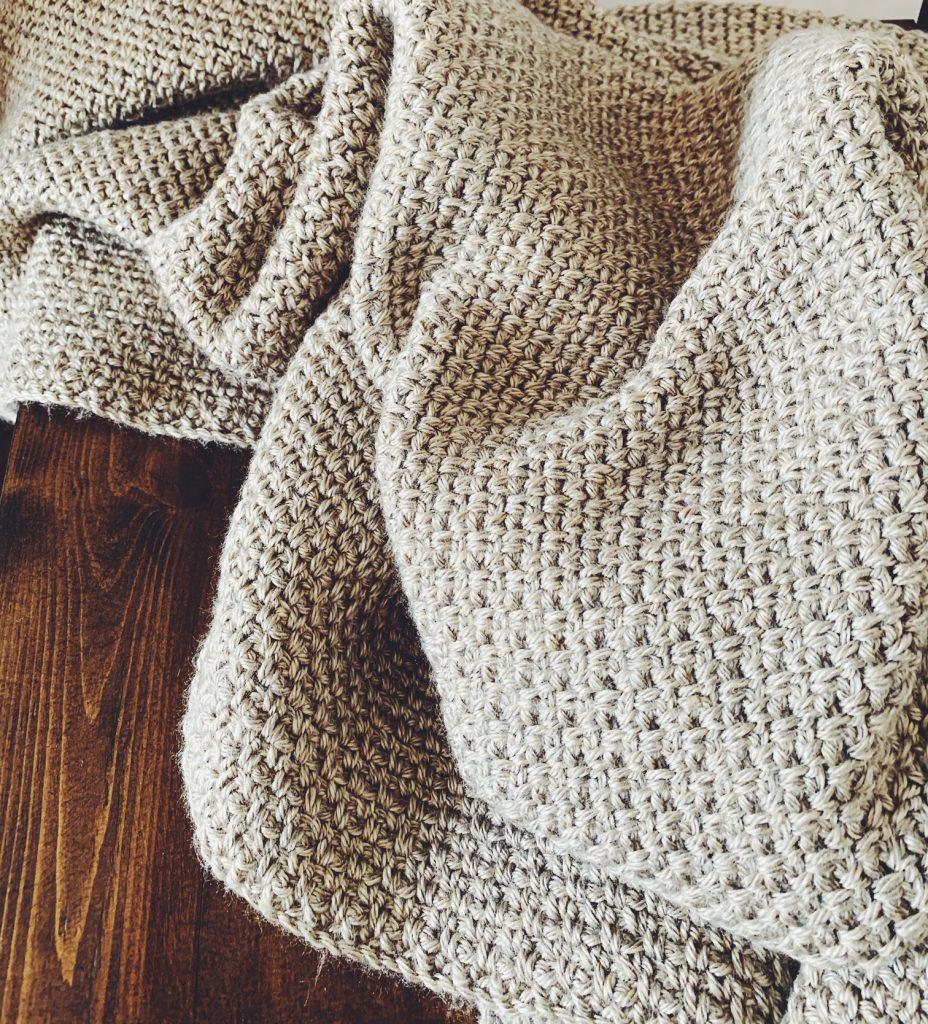 linen stitch crochet throw pattern