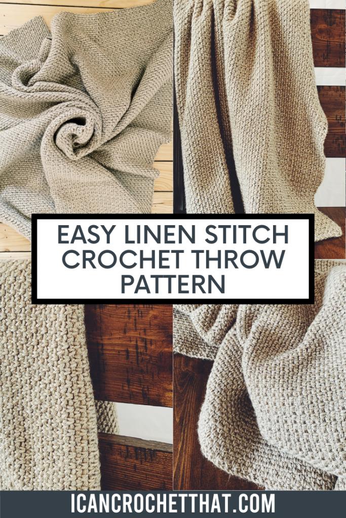 easy linen stitch crochet throw pattern