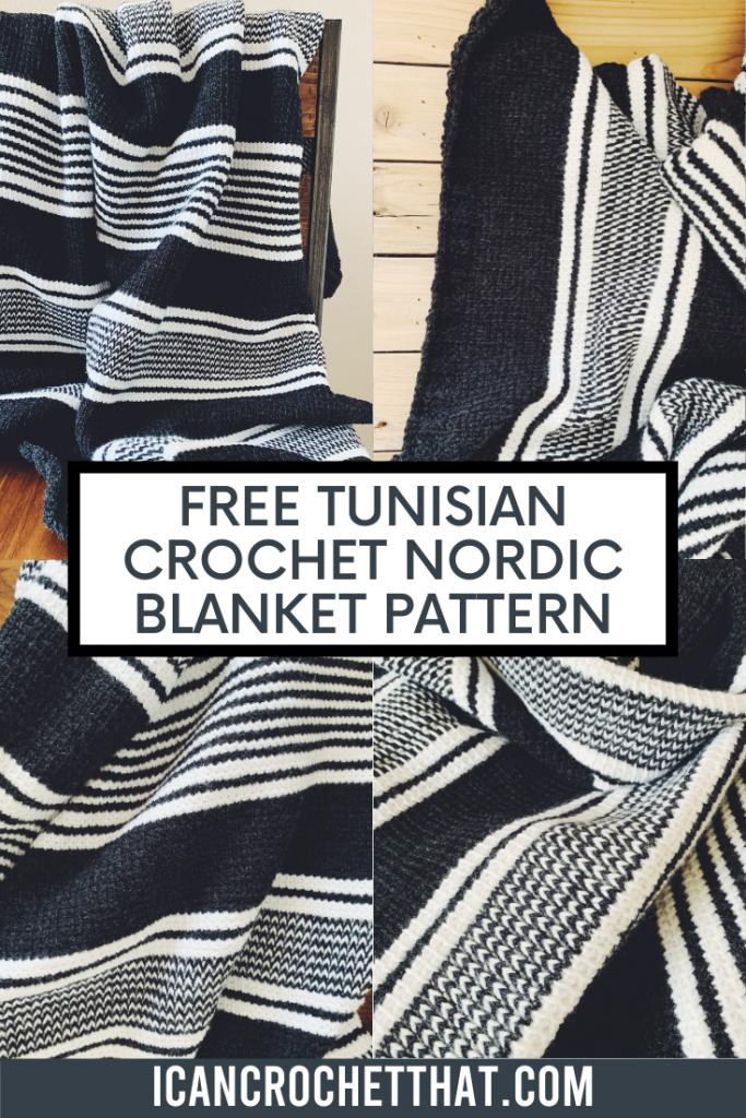 free tunisian crochet blanket pattern on I Can Crochet That