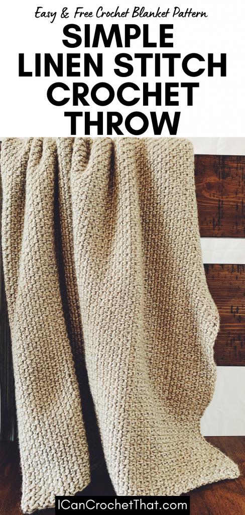 simple linen stitch crochet blanket pattern