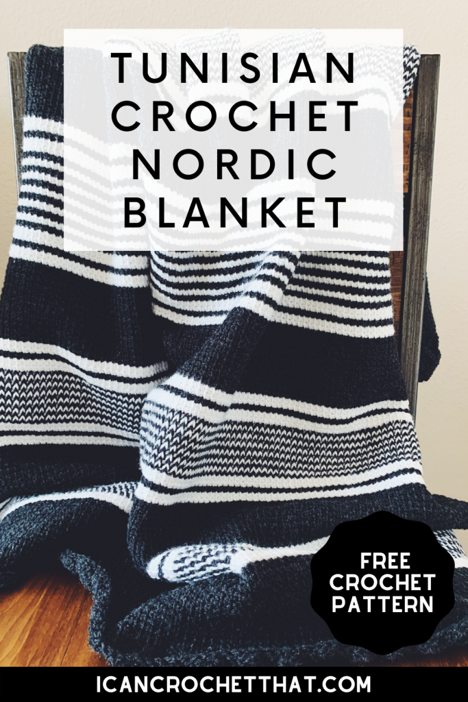 free tunisian crochet nordic blanket pattern