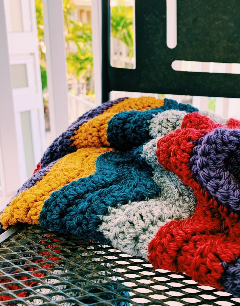 crochet wave stitch blanket pattern