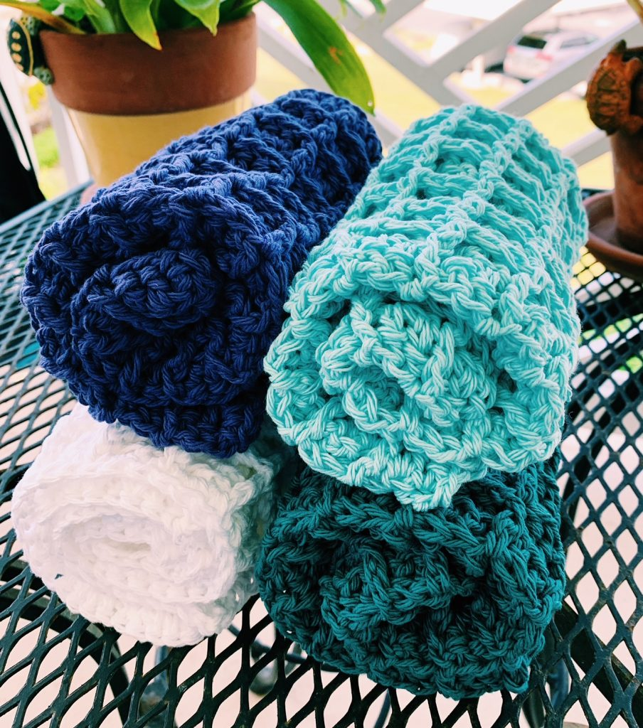 crochet waffle stitch dishcloth pattern
