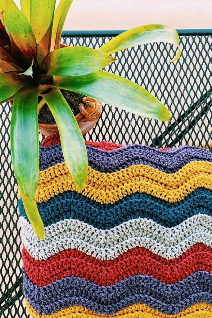 wave stitch afghan pattern