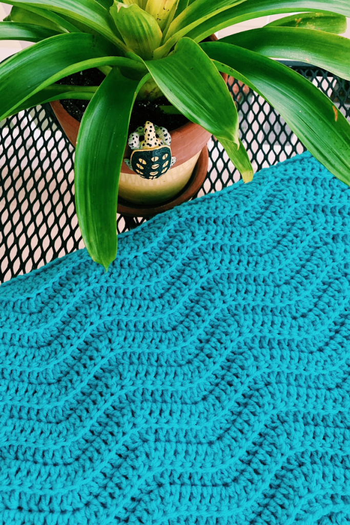 crochet wave stitch blanket how-to