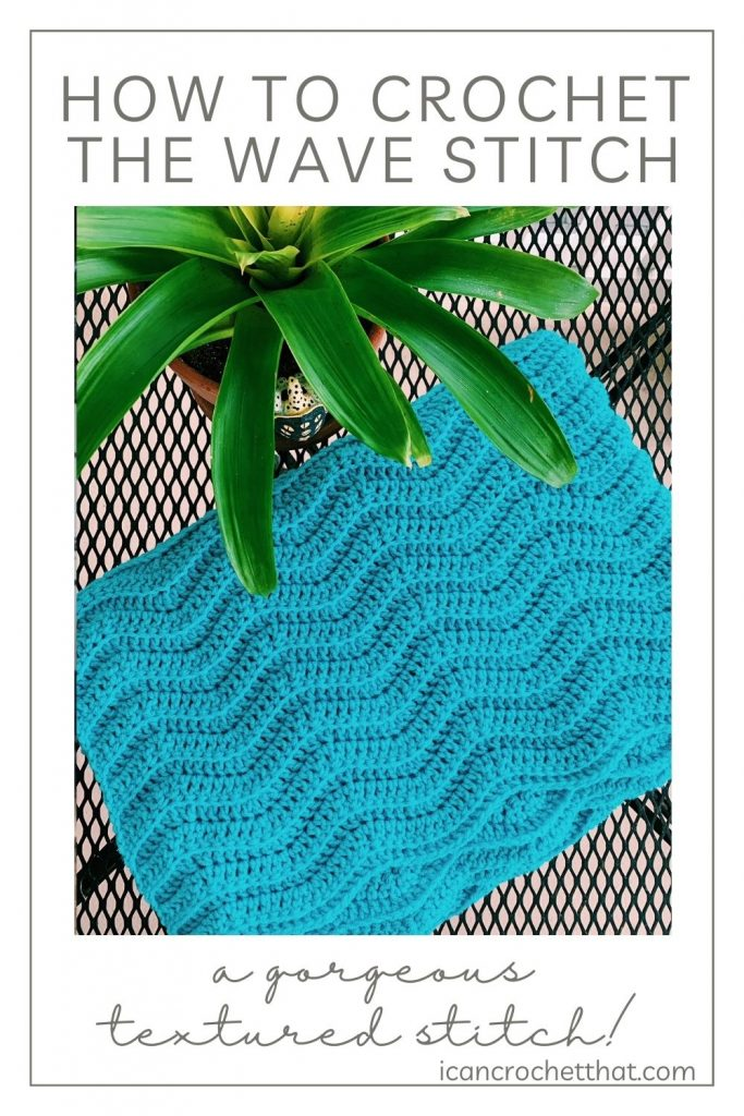 crochet wave stitch tutorial