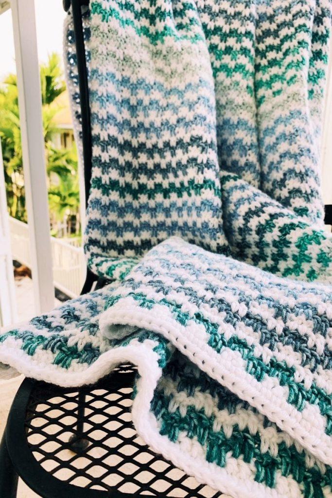 self-striping yarn crochet pattern