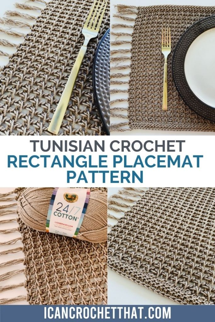 quick and easy tunisian crochet placemat pattern