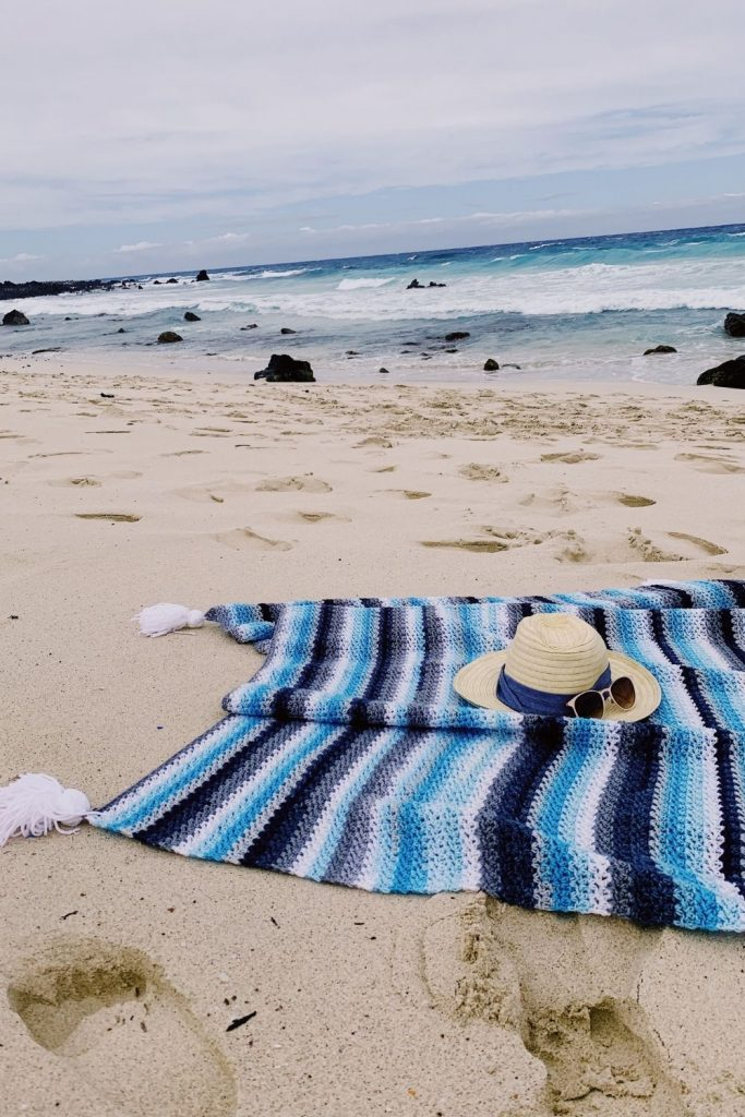 free crochet beach blanket pattern