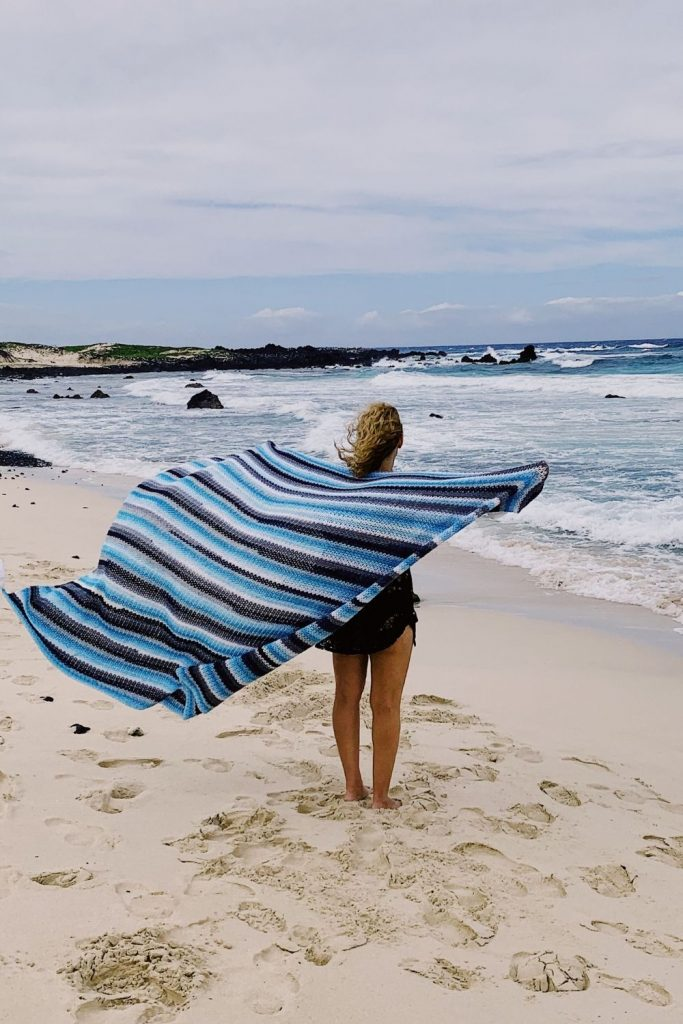 crochet beach blanket