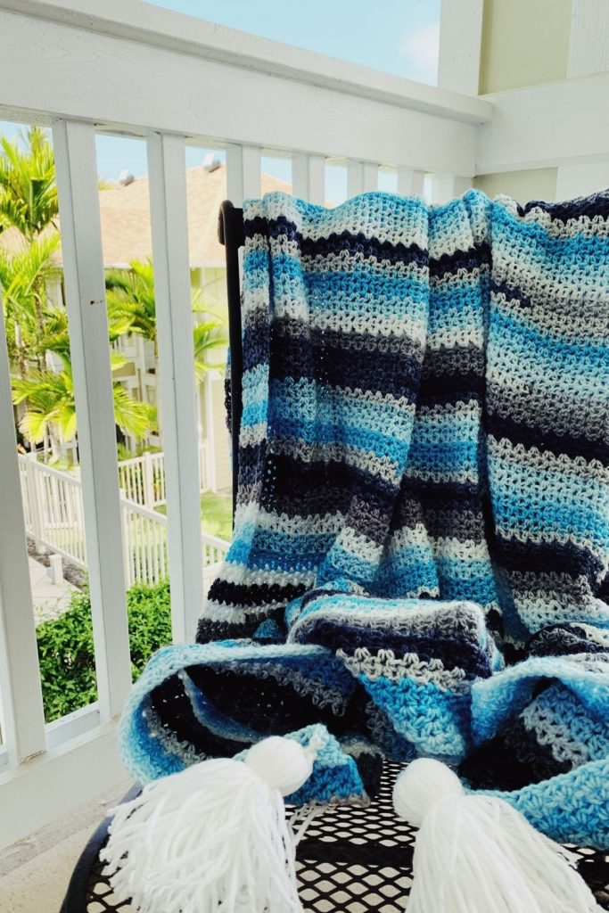 crochet beach blanket free pattern