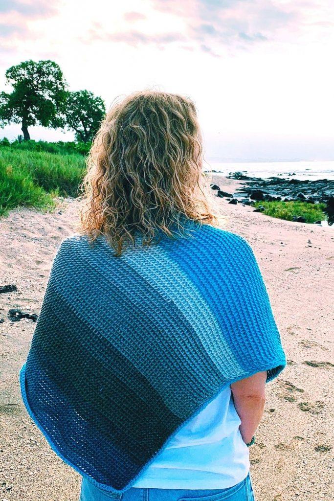 seaside shawl a crochet pattern